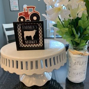 """""""Farmers market"""" cow and tractor kitchen decor"""